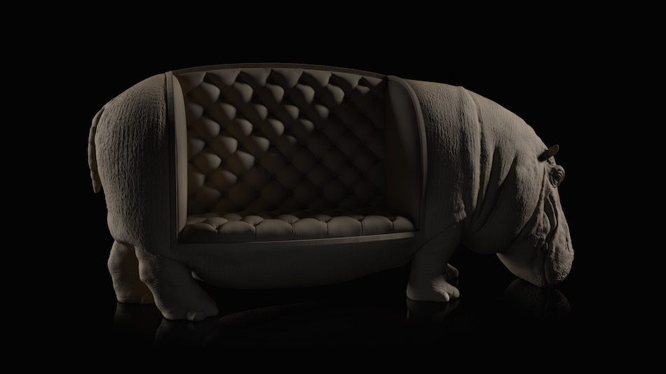 the hippo chair the walrus chair the elephant chair the rhino chair